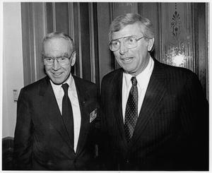 Primary view of object titled '[Jim Wright with Texas Governor Mark White, 1980]'.
