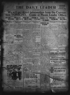 The Daily Leader. (Orange, Tex.), Vol. 5, No. 94, Ed. 1 Friday, June 28, 1912