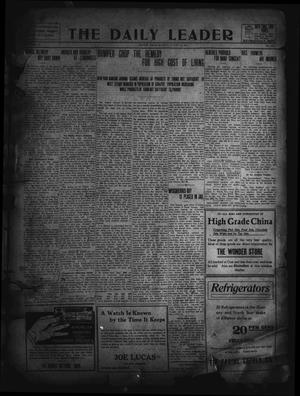 Primary view of object titled 'The Daily Leader. (Orange, Tex.), Vol. 5, No. 136, Ed. 1 Monday, August 19, 1912'.