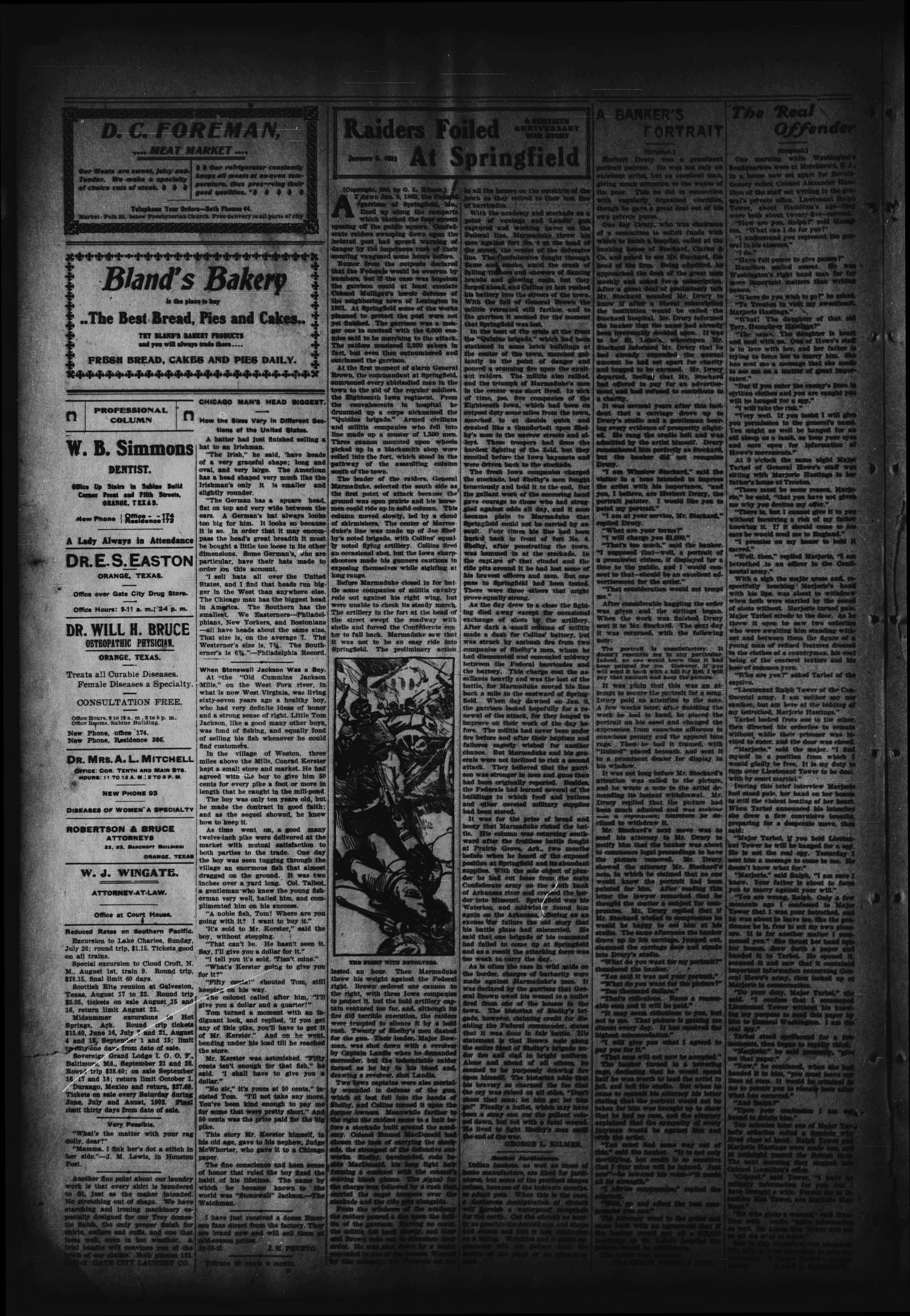 Orange Daily Tribune. (Orange, Tex.), Vol. 2, No. 103, Ed. 1 Saturday, July 25, 1903                                                                                                      [Sequence #]: 2 of 8