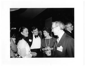 Primary view of object titled '[Jim Wright at a social event]'.