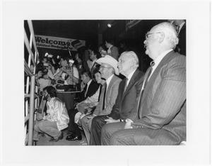 Primary view of object titled '[Jim Wright at a rodeo]'.