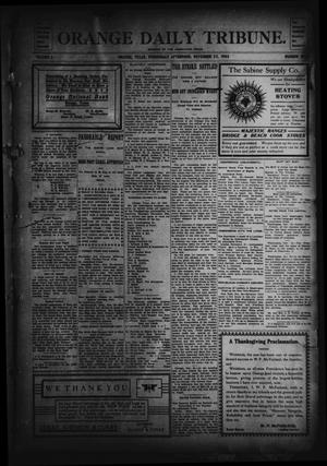 Primary view of object titled 'Orange Daily Tribune. (Orange, Tex.), Vol. 2, No. 207, Ed. 1 Wednesday, November 25, 1903'.