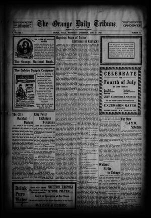 Primary view of object titled 'The Orange Daily Tribune. (Orange, Tex.), Vol. 2, No. 71, Ed. 1 Wednesday, June 17, 1903'.