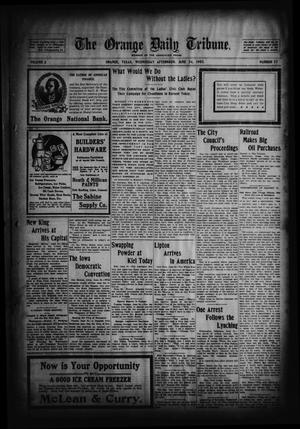 Primary view of object titled 'The Orange Daily Tribune. (Orange, Tex.), Vol. 2, No. 77, Ed. 1 Wednesday, June 24, 1903'.