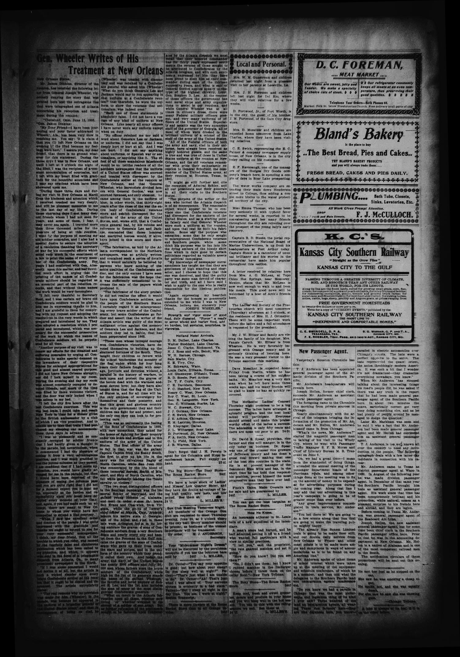 The Orange Daily Tribune. (Orange, Tex.), Vol. 2, No. 77, Ed. 1 Wednesday, June 24, 1903                                                                                                      [Sequence #]: 3 of 4