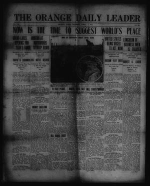 Primary view of object titled 'The Orange Daily Leader. (Orange, Tex.), Vol. 8, No. 552, Ed. 1 Thursday, April 1, 1915'.