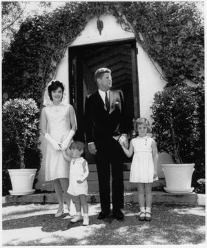 [President John F. Kennedy and family]
