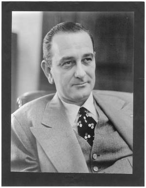 Primary view of object titled '[Portrait of Lyndon B. Johnson]'.