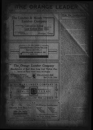 The Orange Leader (Orange, Tex.), Vol. 19, No. 12, Ed. 1 Friday, May 14, 1909