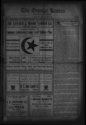 Primary view of object titled 'The Orange Leader, Citizen-Record Consolidated (Orange, Tex.), Vol. 16, No. 17, Ed. 1 Friday, September 16, 1904'.