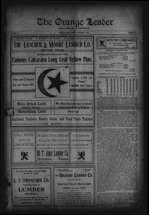 Primary view of object titled 'The Orange Leader, Citizen-Record Consolidated (Orange, Tex.), Vol. 16, No. 20, Ed. 1 Friday, October 7, 1904'.