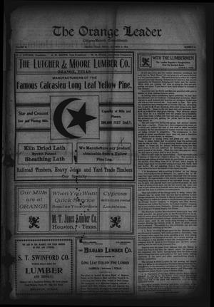 Primary view of object titled 'The Orange Leader, Citizen-Record Consolidated (Orange, Tex.), Vol. 16, No. 22, Ed. 1 Friday, October 21, 1904'.