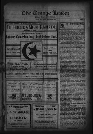 Primary view of object titled 'The Orange Leader, Citizen-Record Consolidated (Orange, Tex.), Vol. 16, No. 27, Ed. 1 Friday, November 25, 1904'.