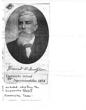 Primary view of object titled '[Photocopy of a portrait of Dr. David Switzer]'.