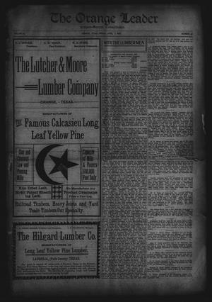 Primary view of object titled 'The Orange Leader, Citizen-Record Consolidated (Orange, Tex.), Vol. 16, No. 45, Ed. 1 Friday, April 7, 1905'.
