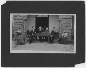 Primary view of object titled '[Dr. David Switzer and group]'.