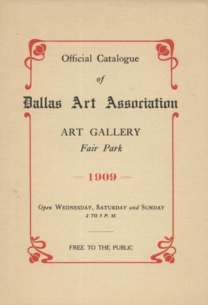 Official Catalogue of the Dallas Art Association, 1909