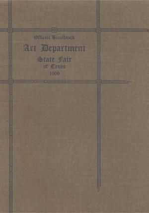 Primary view of object titled 'Official handbook: Art Department State Fair of Texas'.