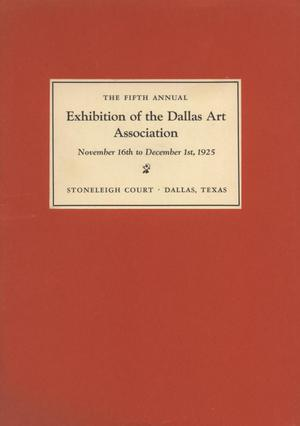 Primary view of object titled 'Catalog of the Fifth Annual Exhibition of the Dallas Art Assocation'.