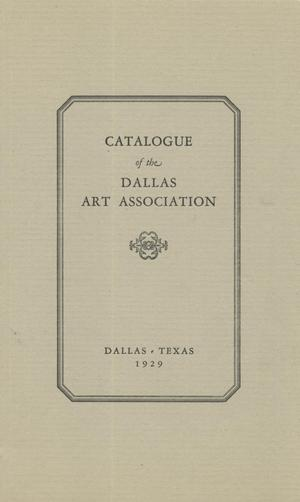 Primary view of object titled 'Catalogue of the Permanent Collection of the Dallas Art Association'.