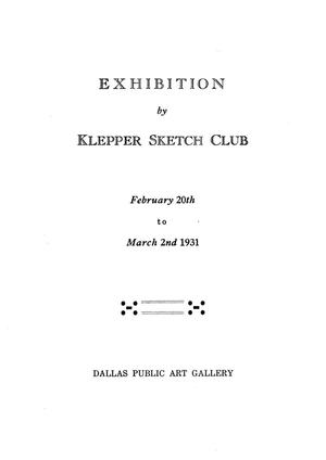 Primary view of object titled 'Exhibition by Klepper Sketch Club'.