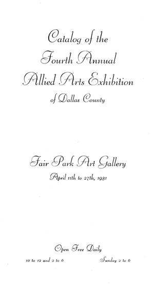 Primary view of object titled 'Catalog of the Fourth Annual Allied Arts Exhibition of Dallas County'.