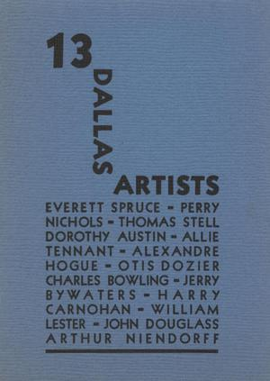 Primary view of object titled '13 Dallas Artists'.