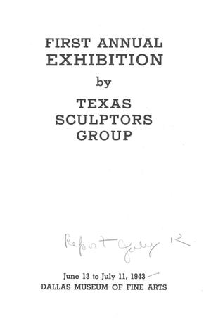 Primary view of object titled 'First Annual Exhibition by Texas Sculptors Group'.