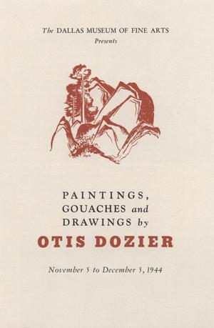 Primary view of object titled 'Paintings, Gouaches and Drawings by Otis Dozier'.