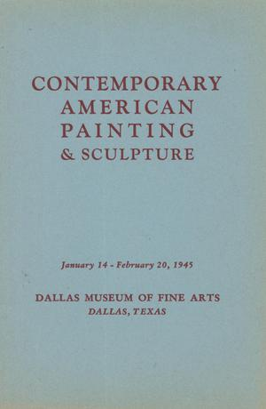 Primary view of object titled 'An Exhibition of Contemporary Paintings & Sculpture'.