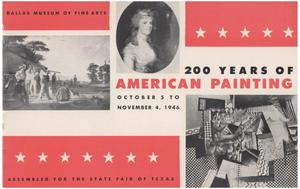 Primary view of object titled '200 Years of American Painting'.