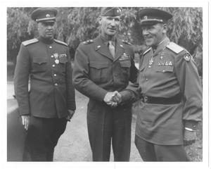 [William Hood Simpson with Col. General Alexander W. Gorbatov]