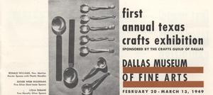 Primary view of object titled 'First Annual Texas Crafts Exhibition'.