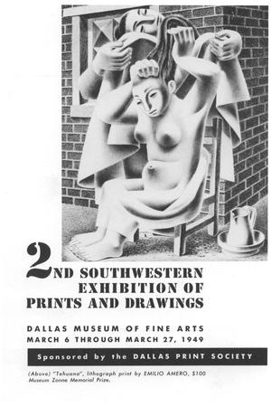 Primary view of object titled '2nd Southwestern Exhibition of Prints and Drawings'.