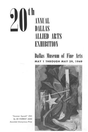 Primary view of object titled '20th Annual Dallas Allied Arts Exhibition'.