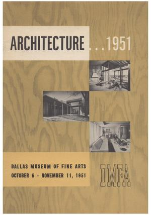 Primary view of object titled 'Architecture... 1951'.