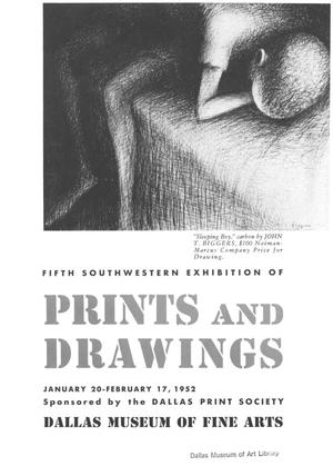 Primary view of object titled 'Fifth Southwestern Exhibition of Prints and Drawings'.