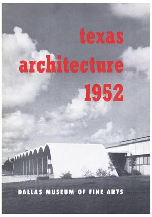 Primary view of object titled 'Texas Architecture 1952'.