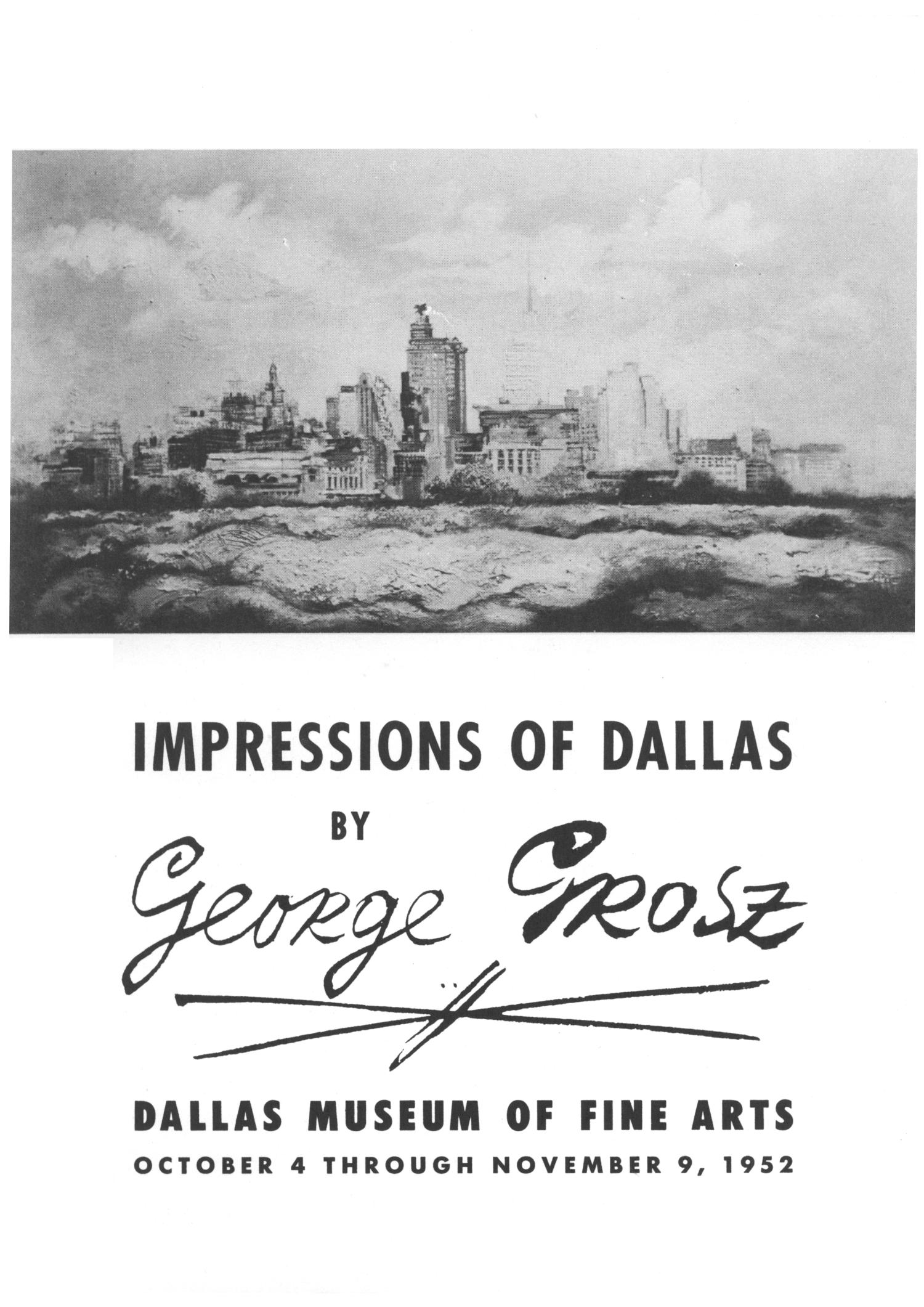 Impressions of Dallas by George Grosz                                                                                                      1