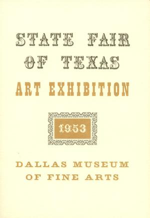 Primary view of object titled 'State Fair of Texas Art Exhibition 1953'.