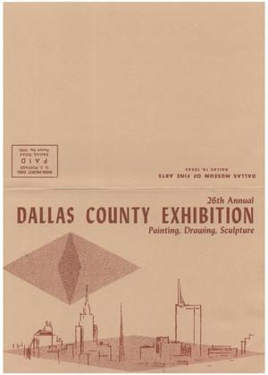 Primary view of object titled '26th Annual Dallas County Exhibition: Painting, Drawing, Sculpture'.
