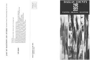 Primary view of object titled '27th Annual Dallas County Exhibition: Painting, Drawing, Sculpture, 1956'.