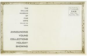 Primary view of object titled 'Young Collections Presents 1958 Holiday Showing'.