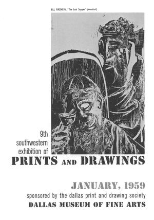 Primary view of object titled '9th Southwestern Exhibition of Prints and Drawings'.