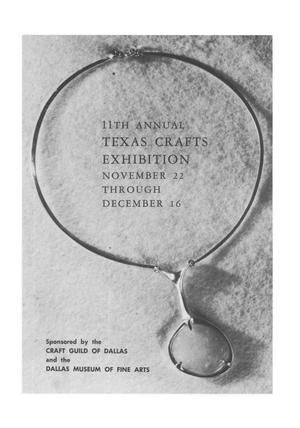 Primary view of object titled '11th Annual Texas Crafts Exhibition'.