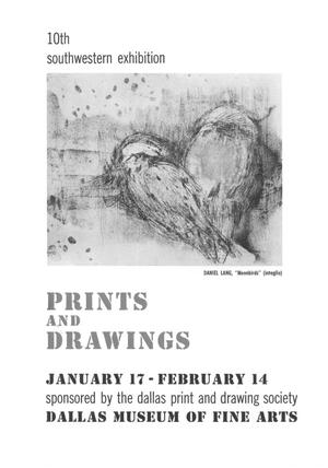 Primary view of object titled '10th Southwestern Exhibition: Prints and Drawings'.
