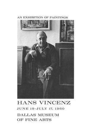 Primary view of object titled 'Hans Vincenz:  An Exhibition of Paintings'.