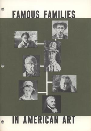 Primary view of object titled 'Famous Families in American Art'.