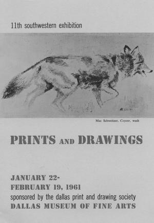 Primary view of object titled '11th Southwestern Exhibition: Prints and Drawings'.